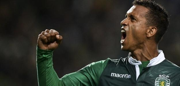 Nani comemora gol com os companheiros do Sporting: atuações em Portugal chamaram atenção da Inter de Milão