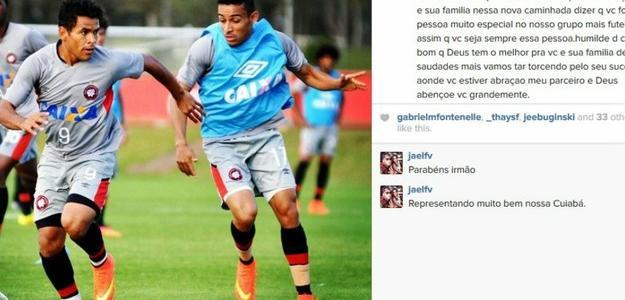 Natanael se despede de Ederson no Instagram