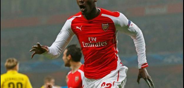 Sanogo fez cinco jogos na temporada e marcou um gol: contra o Borussia Dortmund,