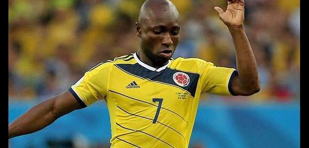 Armero foi um dos destaques da Colômbia na Copa do Mundo