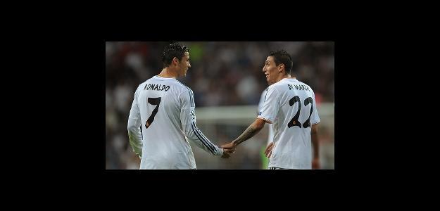 Cristiano Ronaldo e Dí Maria em jogo do Real Madrid