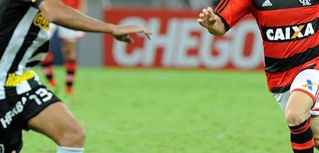 Adryan atuando no clássico Flamengo e Botafogo