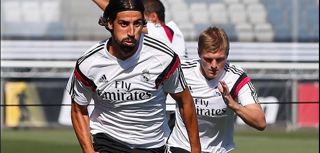 Sami Khedira, em treino durante a pré-temporada do Real Madrid