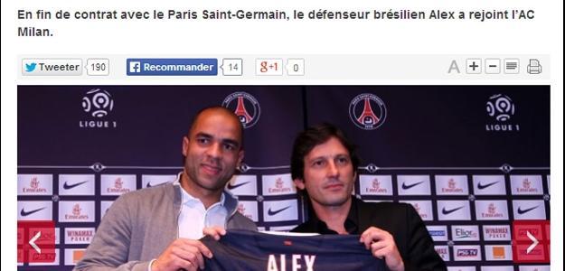 Alex irá atuar no Milan