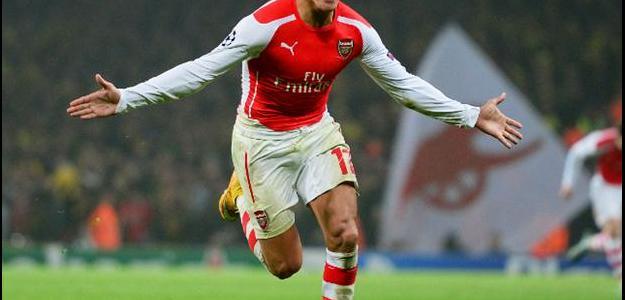 Alexis Sánchez é o artilheiro do Arsenal na temporada