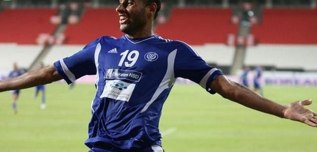 Bruno Correa comemora um gol quando defendia o Dubai
