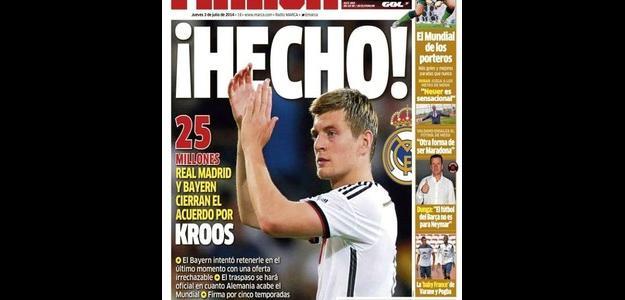 O alemão Toni Kroos é o mais novo astro do Real, afirma diário madrileno
