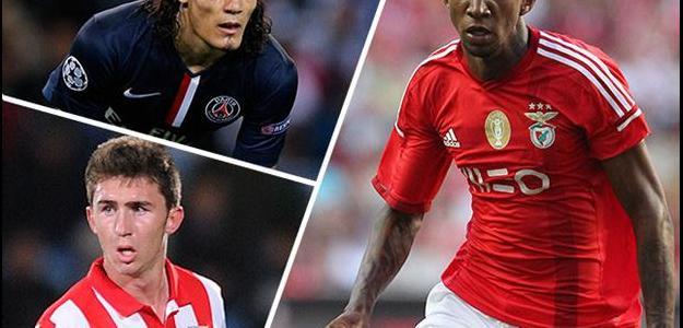 Edinson Cavani, Anderson Talisca e Aymeric Laporte estão na mira do Arsenal