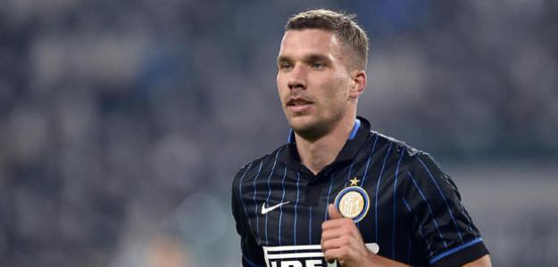 Podolski está emprestado a Inter de Milão até o meio deste ano