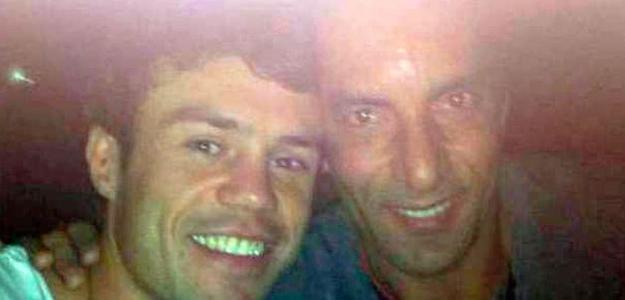 Edmundo (à direita) junto com Kléber (à esquerda)