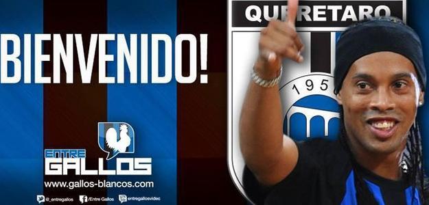 Ronaldinho Gaúcho ainda não vestiu a camisa do Querétaro