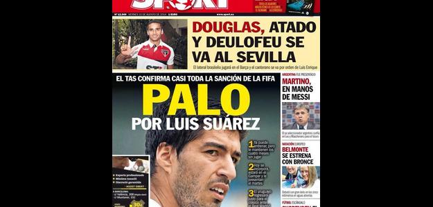 Jornal Sport crava Douglas no Barcelona