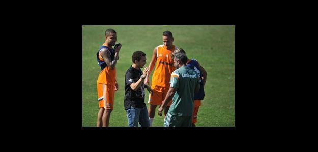 Wellington Nem visitou o treino do Fluminense em junho